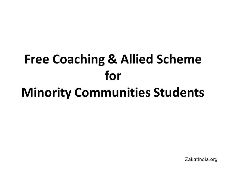 Free Coaching & Allied Scheme for Minority Communities Students ZakatIndia.org