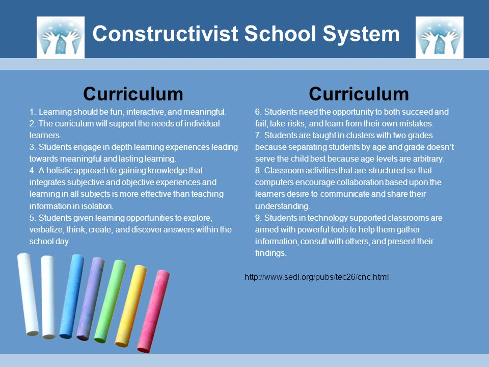 Curriculum 1. Learning should be fun, interactive, and meaningful. 2. The curriculum will support the needs of individual learners. 3. Students engage