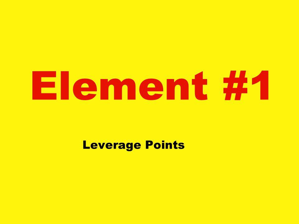 Element #1 Leverage Points