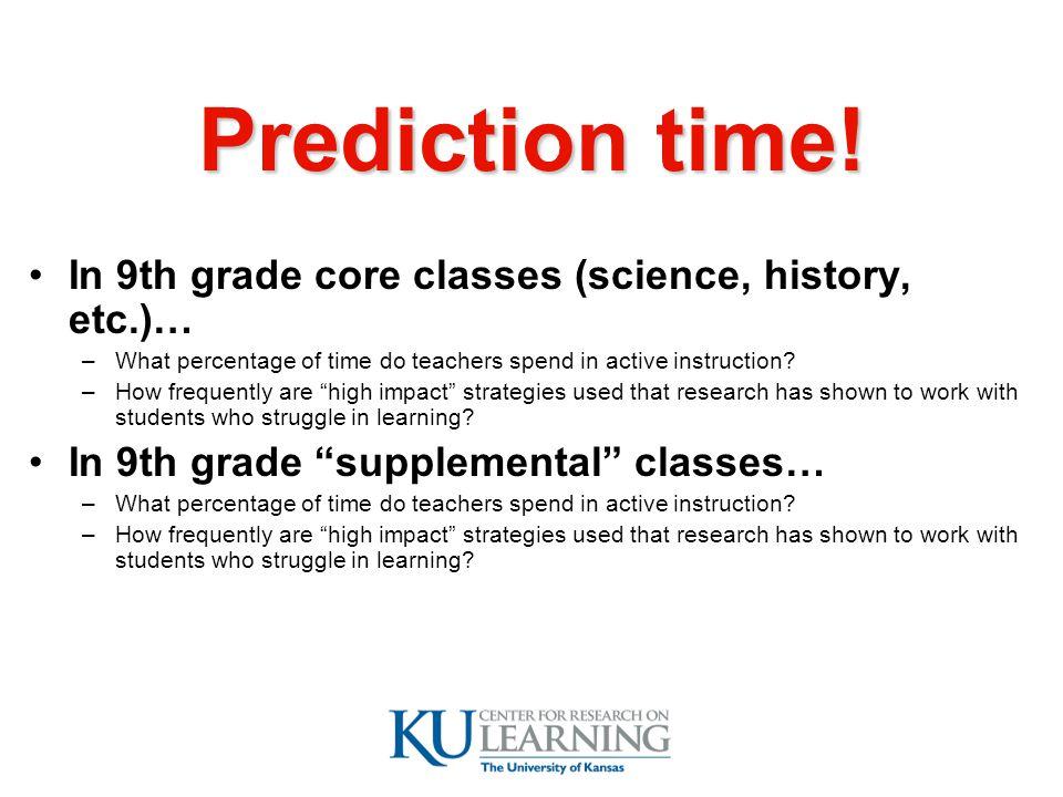 Prediction time.