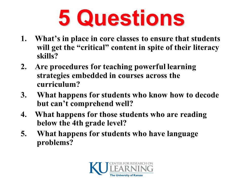 5 Questions 1.
