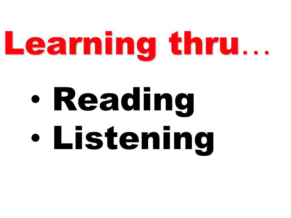 Reading Listening Learning thru …