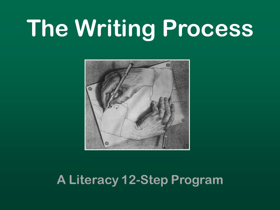 The Writing Process A Literacy 12-Step Program