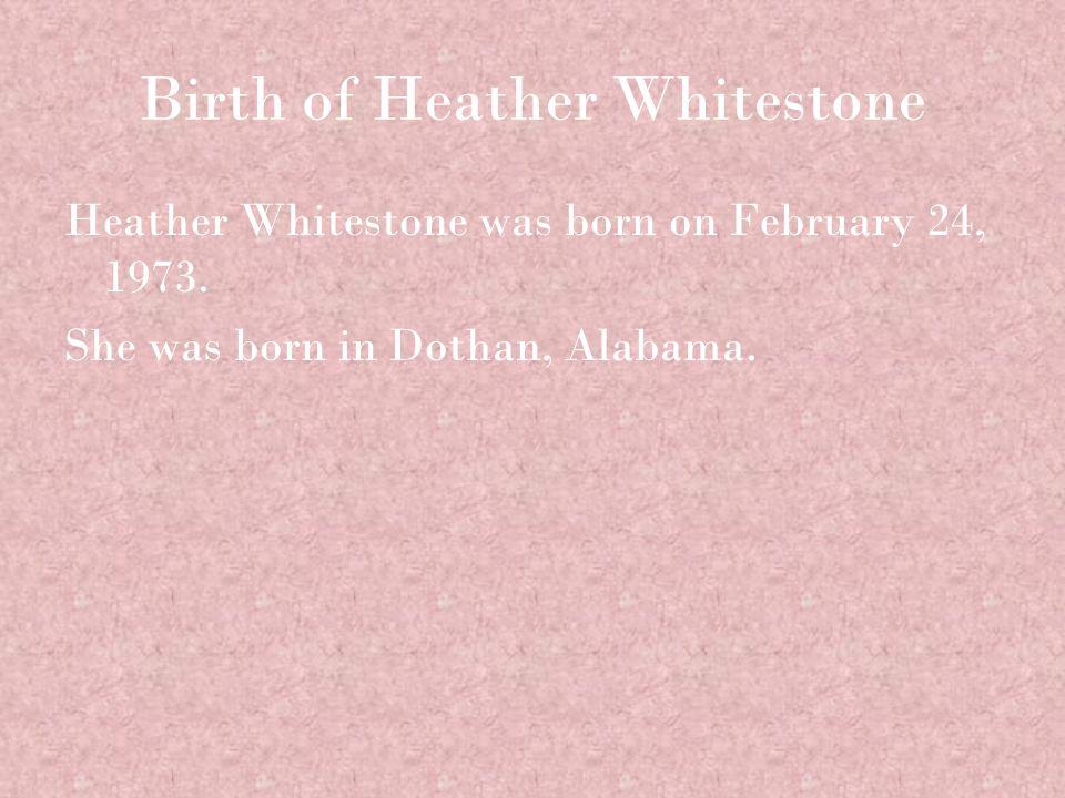 Heather Whitestone's Parents Heather Whitestone's parents are Bill Whitestone and Daphne Gray.