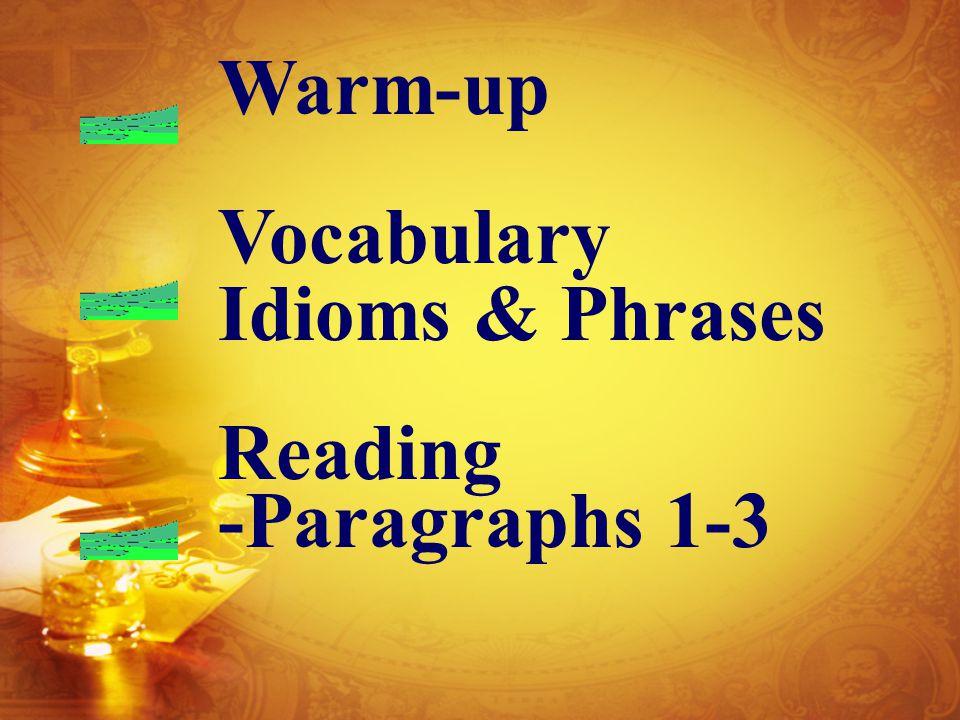 Teaching Activities 1st period 1. Warm-upWarm-up 2.