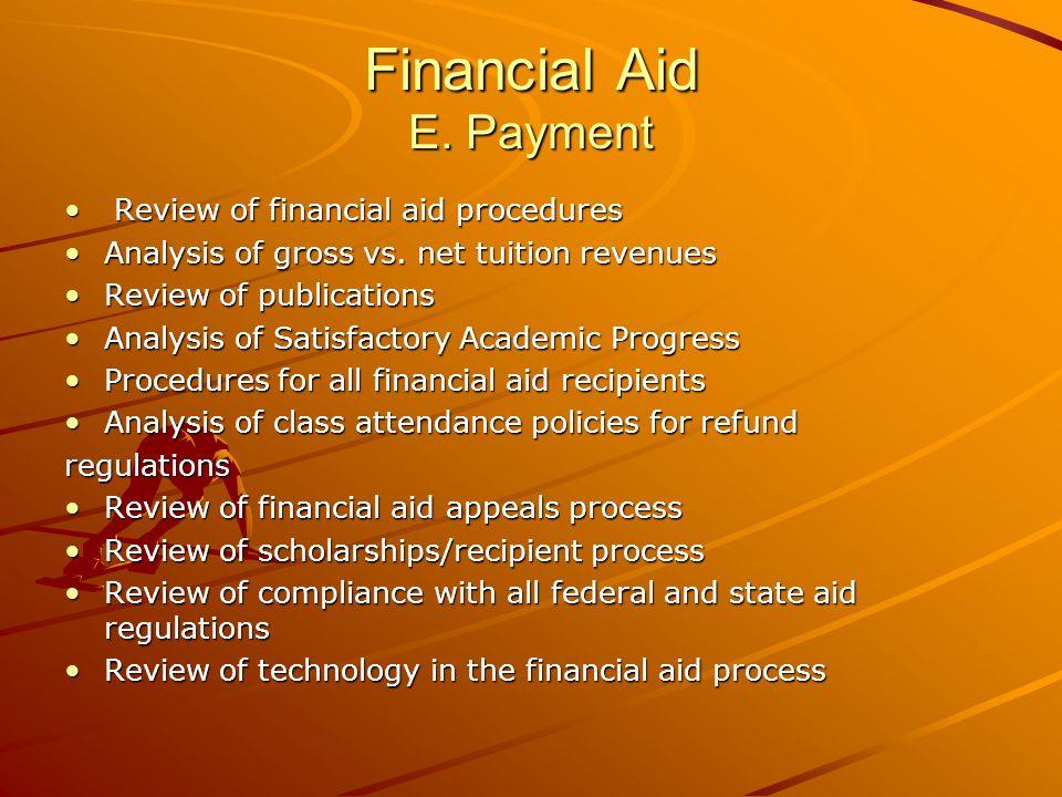 Financial Aid E.