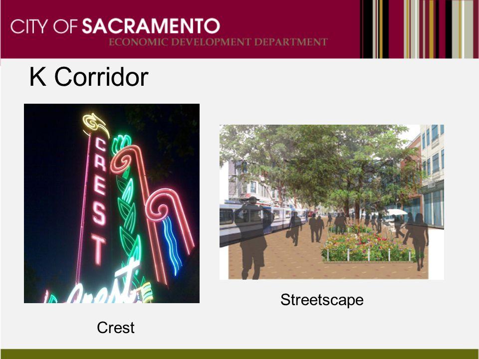 K Corridor Streetscape Crest