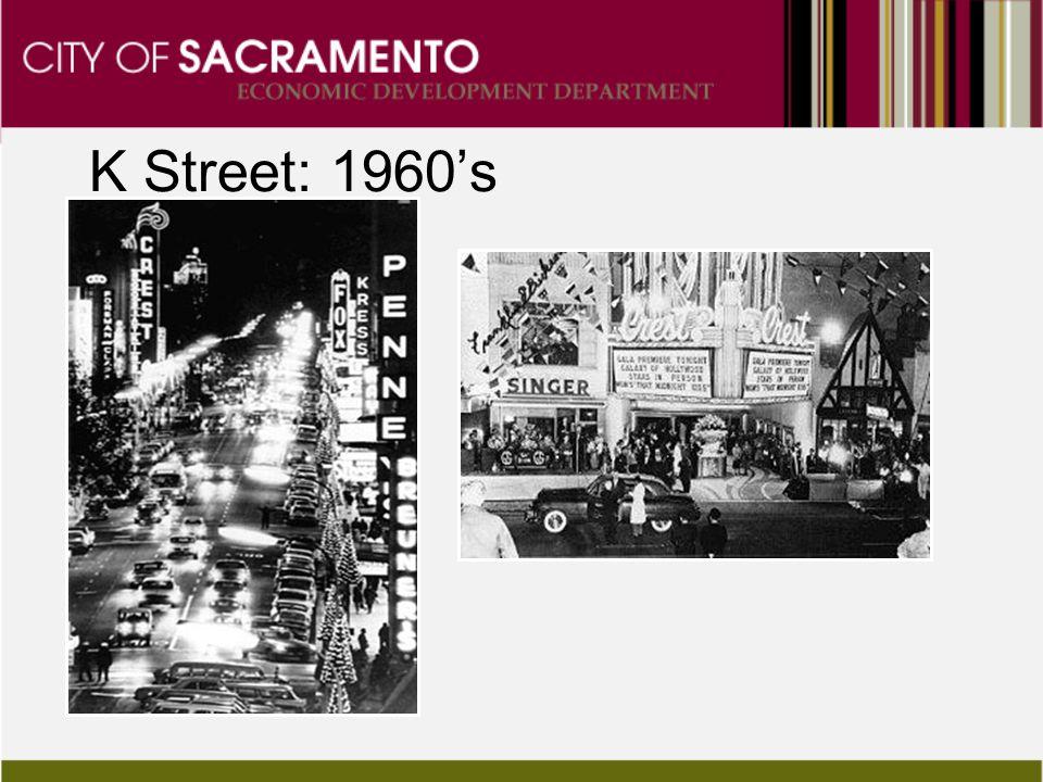Cars on K K Street: 1960's