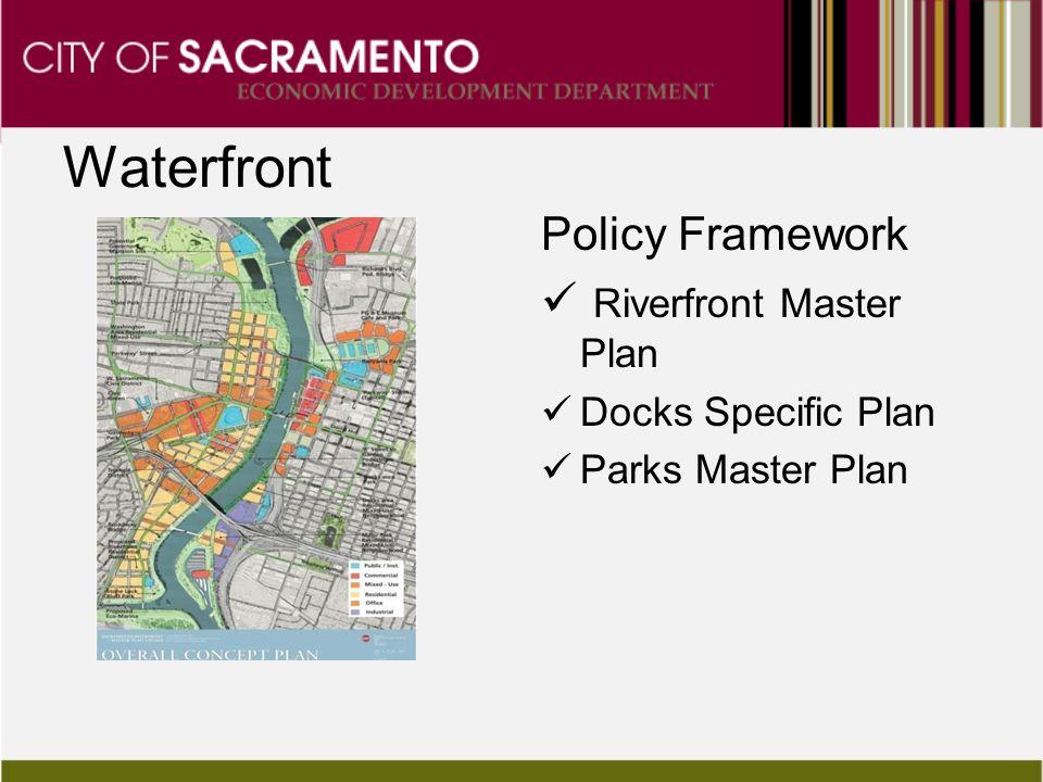 Waterfront Policy Framework Riverfront Master Plan Docks Specific Plan Parks Master Plan