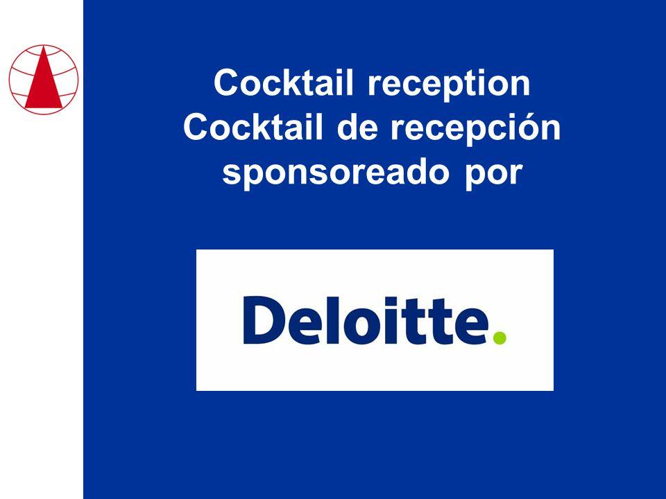 Cocktail reception Cocktail de recepción sponsoreado por