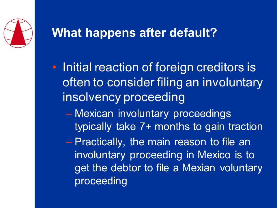 What happens after default.
