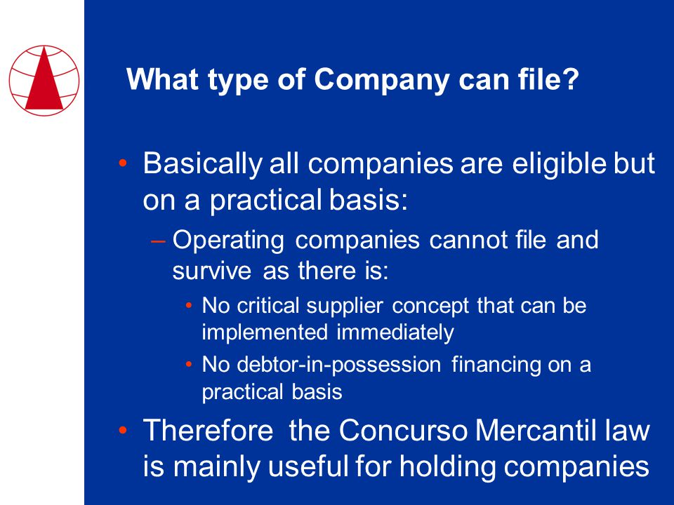 What type of Company can file.