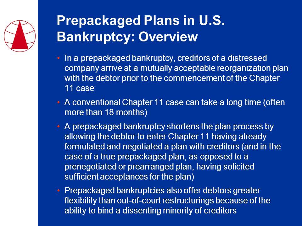 Prepackaged Plans in U.S.