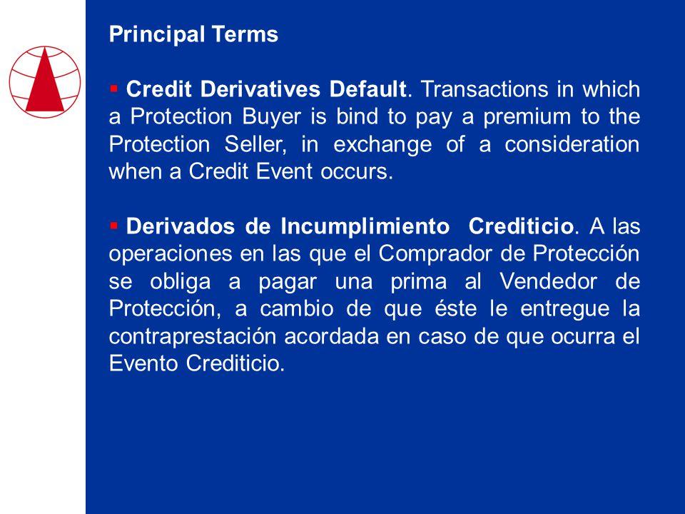 Principal Terms  Credit Derivatives Default.