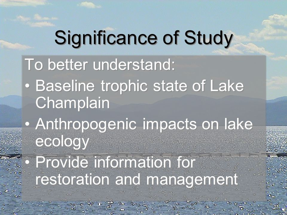 Why are Lake Sediments Important.