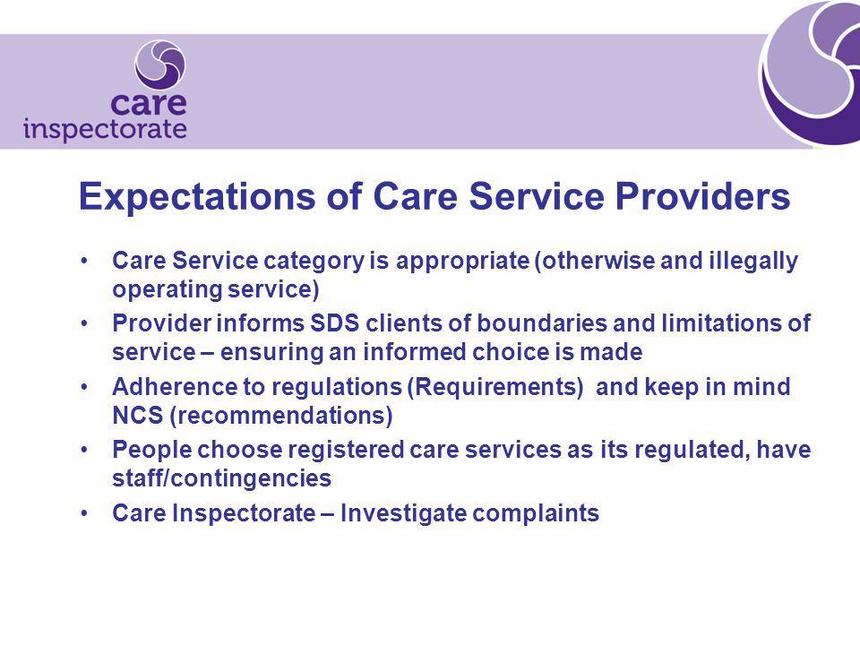 I nspection of care services - continue to use: Annual Returns Self Assessments PSR Act, Regulations and relevant NCS Lay Assessors/Service user carers Future – stakeholder feedback