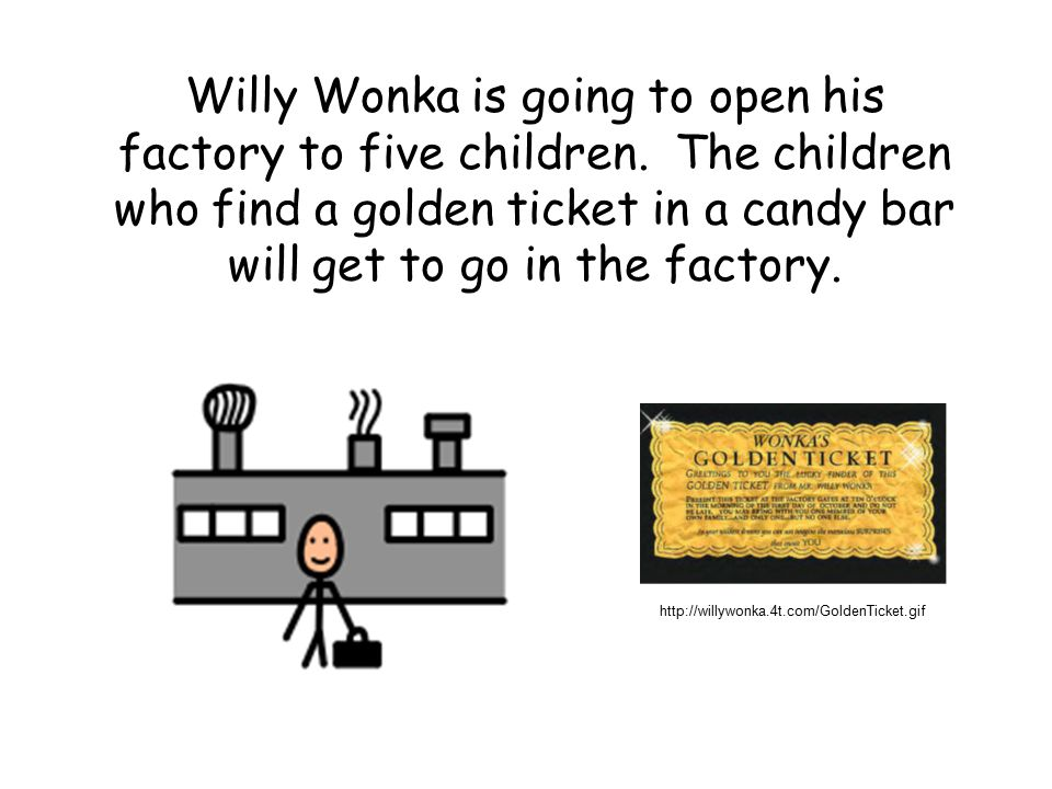 Willy Wonka is going to open his factory to five children.