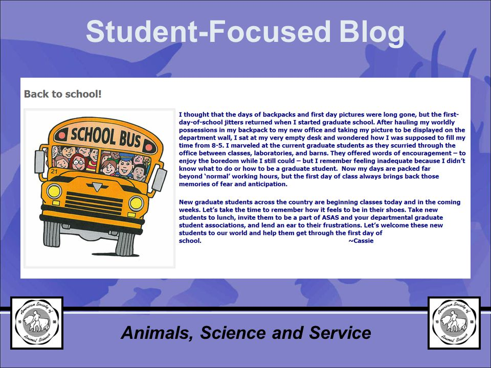 Student-Focused Blog