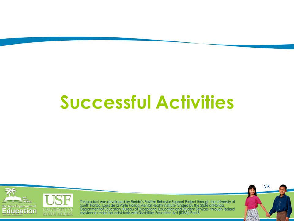 25 Successful Activities
