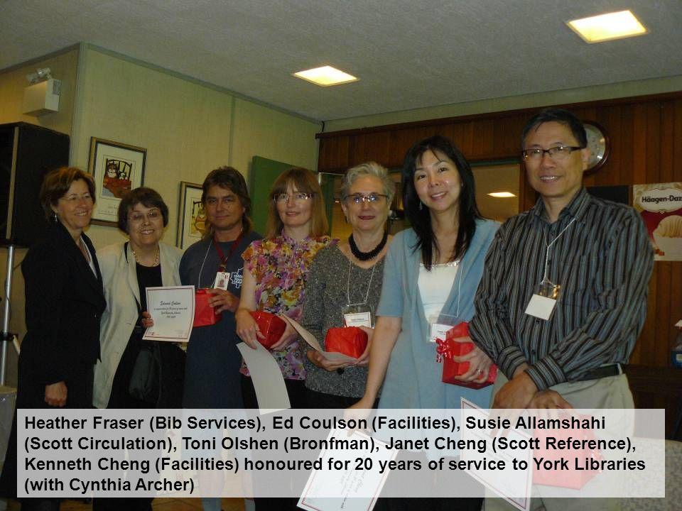 Havae Aharoni, Delores Seli and Linda Hansen (Scott Circulation), Tina McColl (LAS), and Carmela Dibellonia (Scott Circulation)