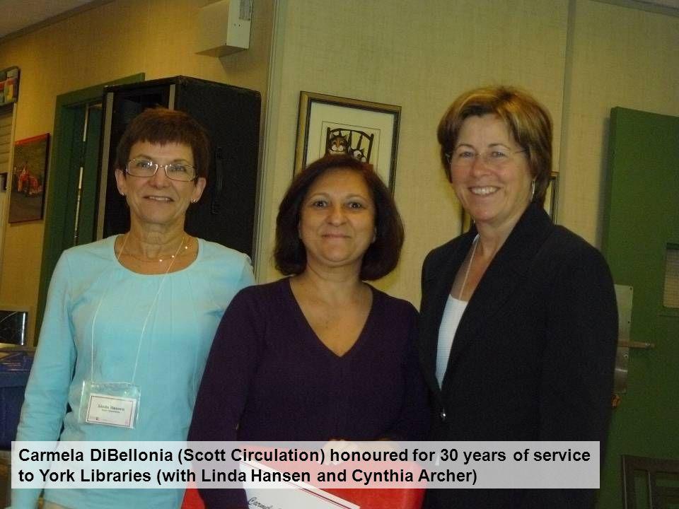 Mark Robertson (AUL Info Svc), Lisa Sloniowski (Reference) and Sarah Coysh (Frost) Act natural!