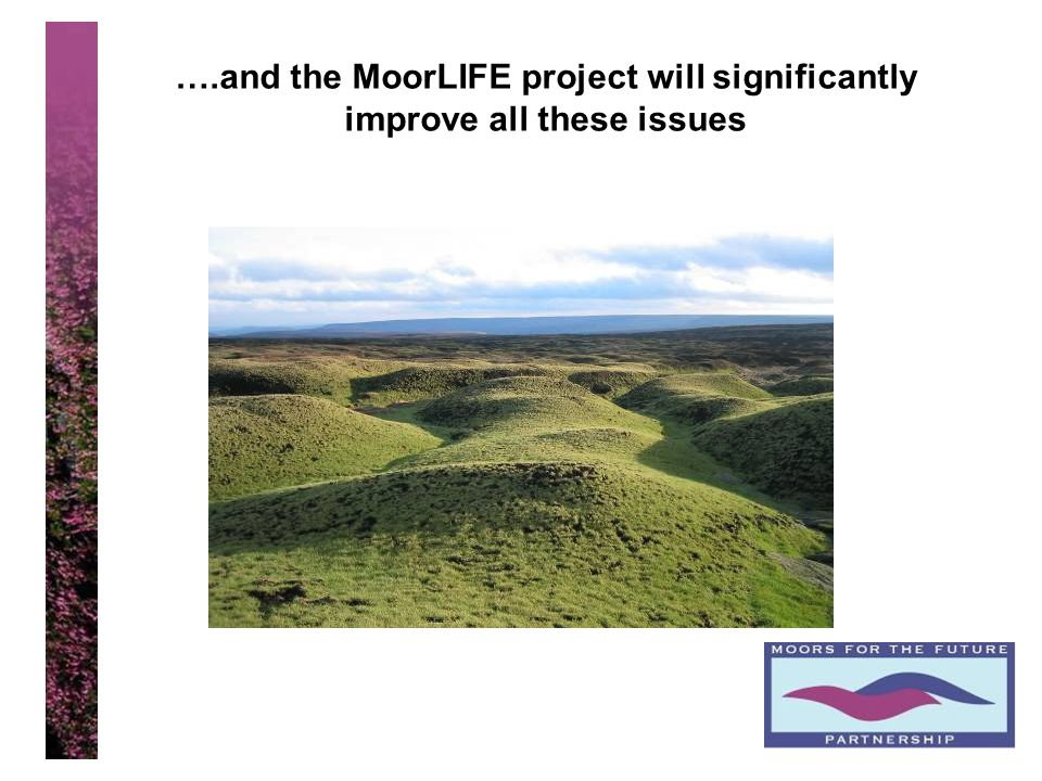 13 ….and the MoorLIFE project will significantly improve all these issues
