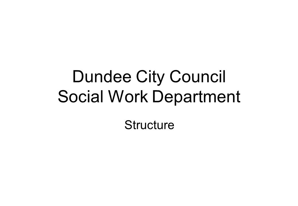 Dundee City Council DIRECTORATE STRUCTURE Jenni Tocher Director and Chief Officer Social Work Officer Diane McCulloch Manager Community Care Laura Bannerman Manager Strategy & Performance Section Dave Berry Manager Finance & Support Service Jane Martin Manager Children Service & CJ Service