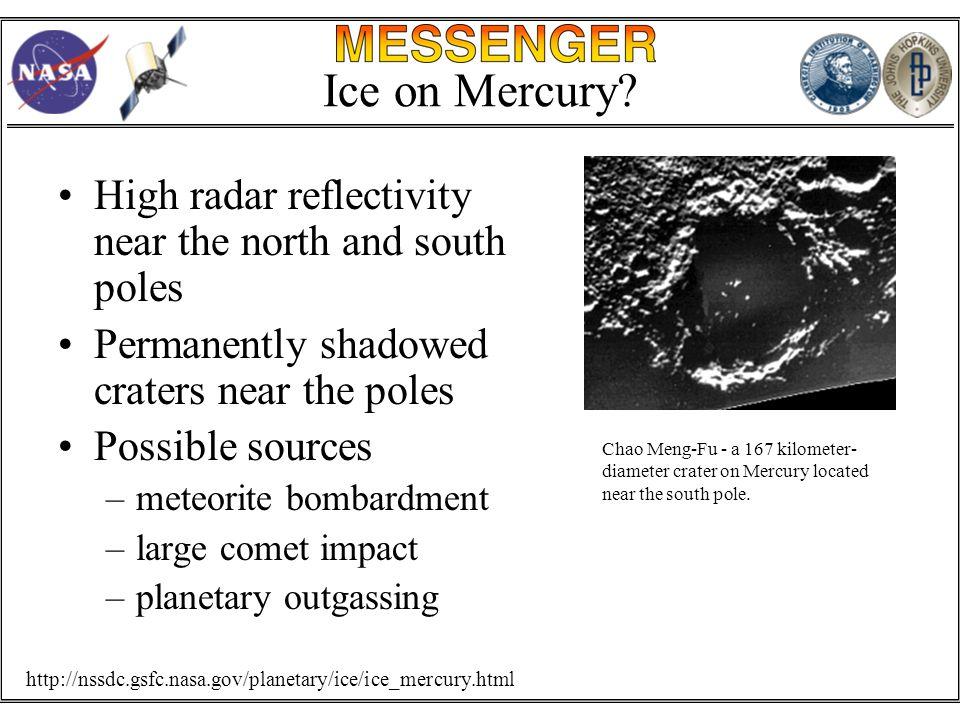 Ice on Mercury.