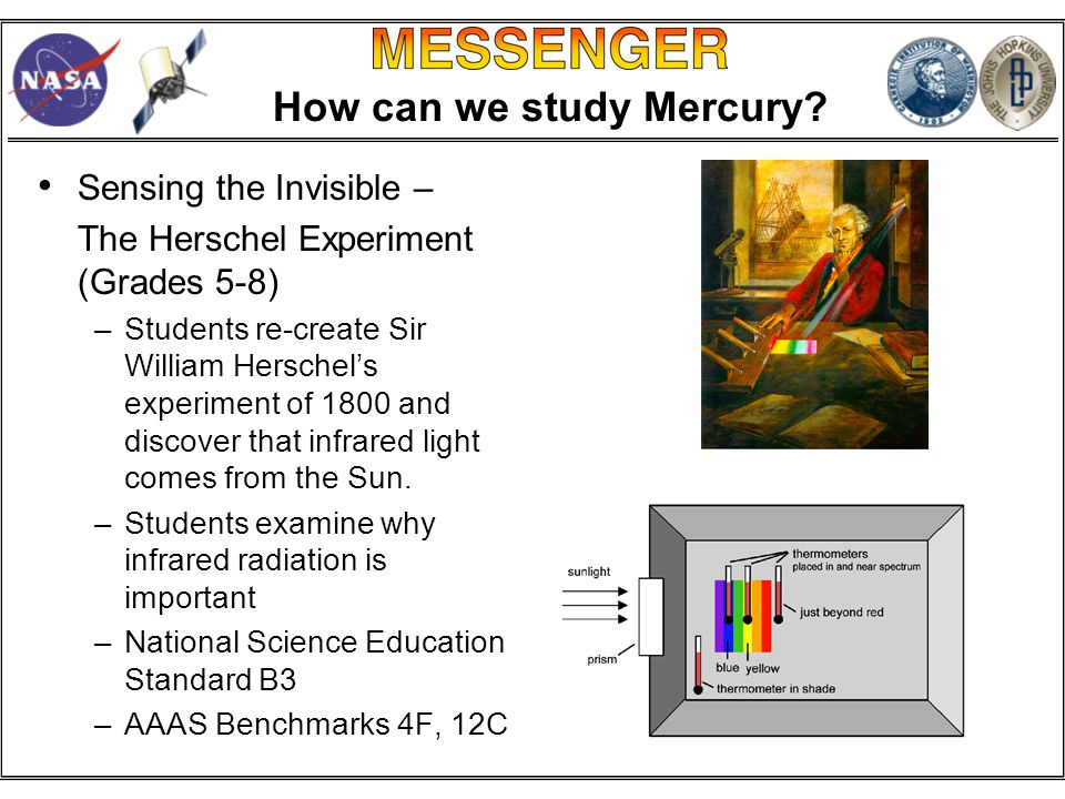 How can we study Mercury.