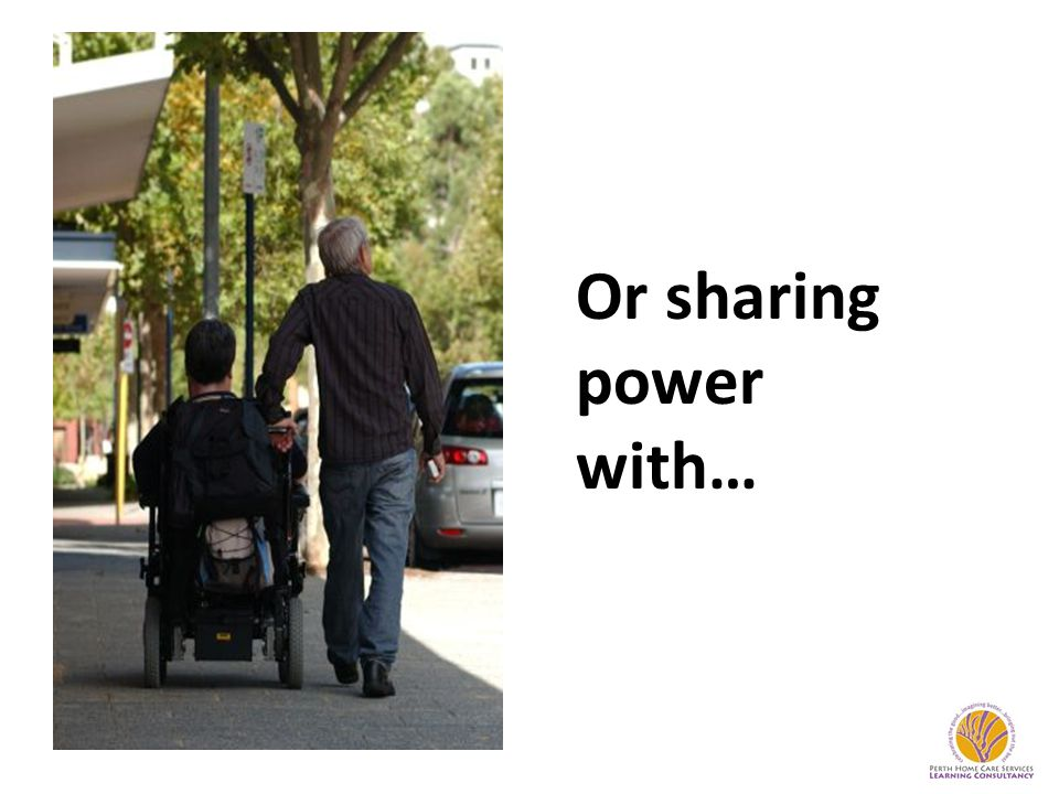 Or sharing power with…