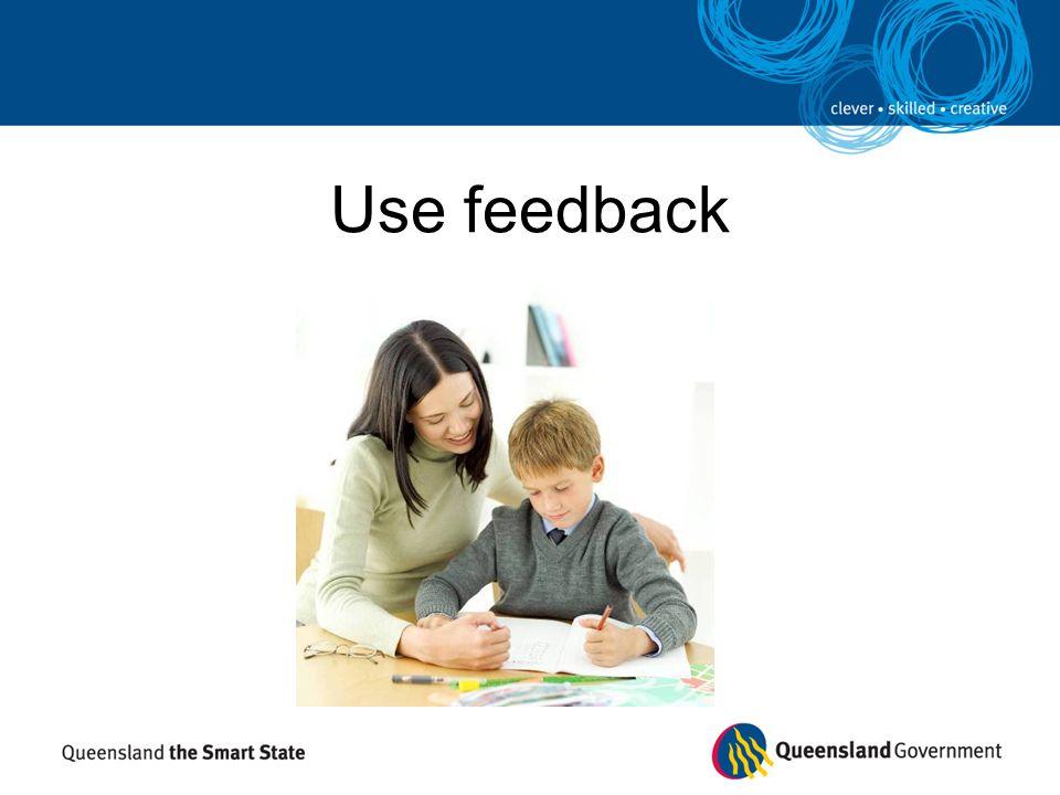 Use feedback