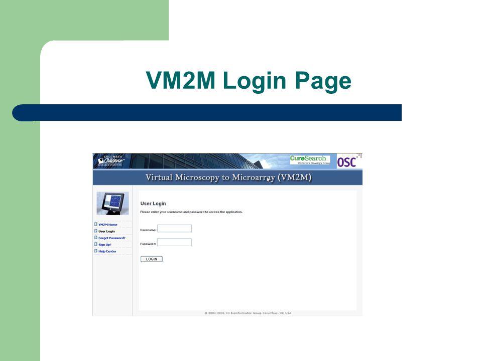 VM2M Login Page
