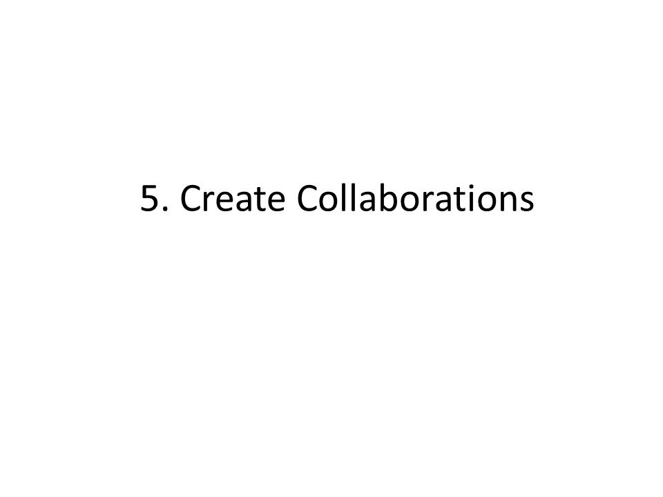 5. Create Collaborations