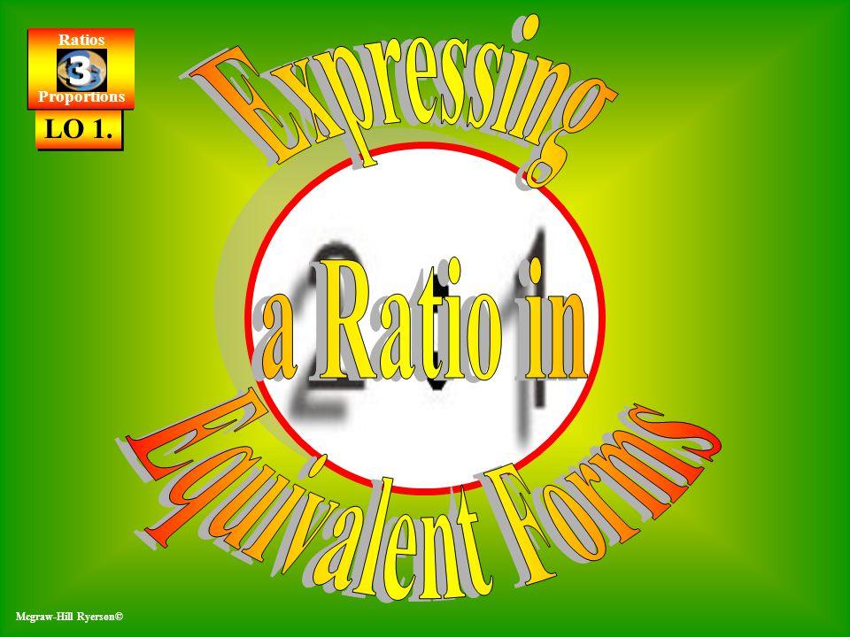 Ratios Proportions Ratios Proportions 3 3 McGraw-Hill Ryerson© 3 -4 Mcgraw-Hill Ryerson© LO 1. Ratios Proportions Ratios Proportions 3 3