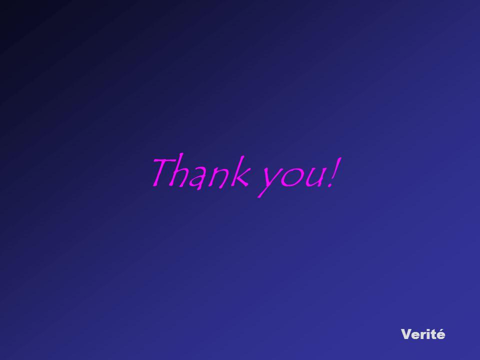 Verité Thank you!