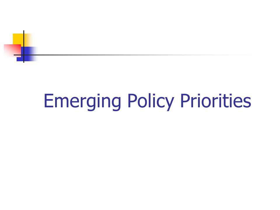 Emerging Policy Priorities