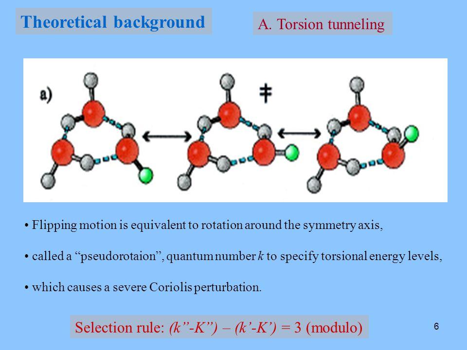 7 D 2 O trimer torsional vibrations -1 0 -2 0 3030 0 3131 -2 1 +1 0 +2 0 +2 1 +kn+kn -k n Index n = 0, 1, 2, … Pseudorotation number k = 0, ±1, ±2, 3, 3, ±2, ±1, 0… (K'-K ) = -1, 0, +1 l, u