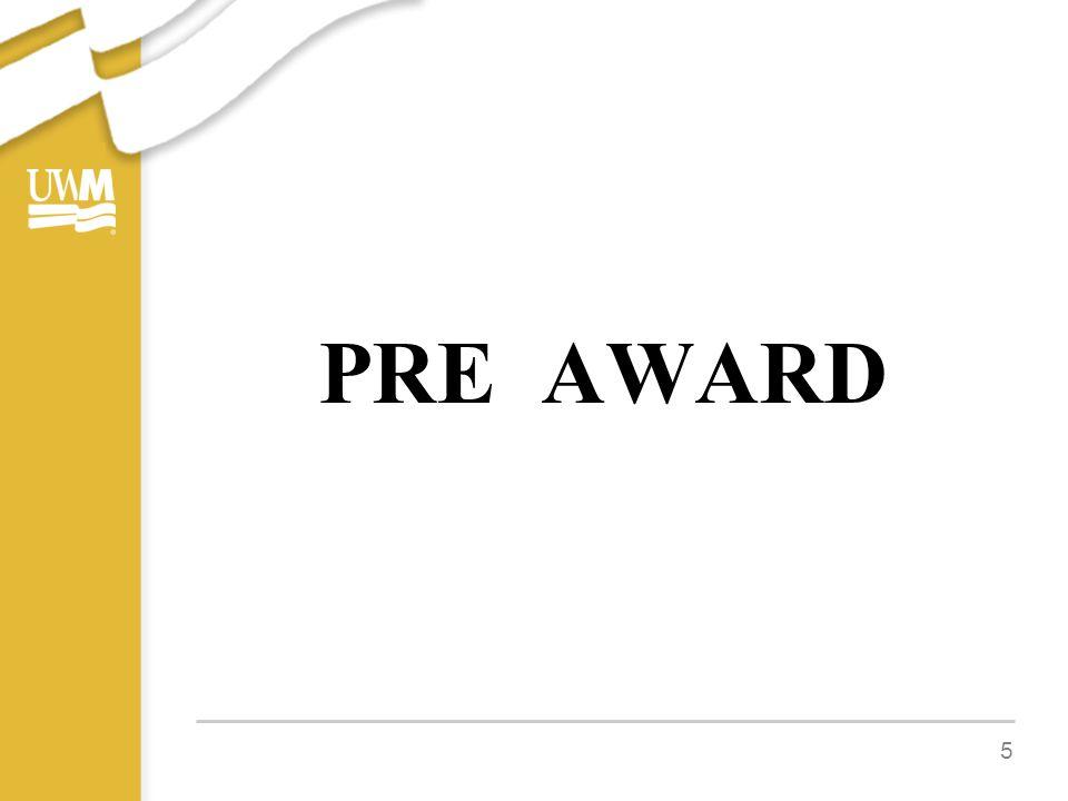 PRE AWARD 5