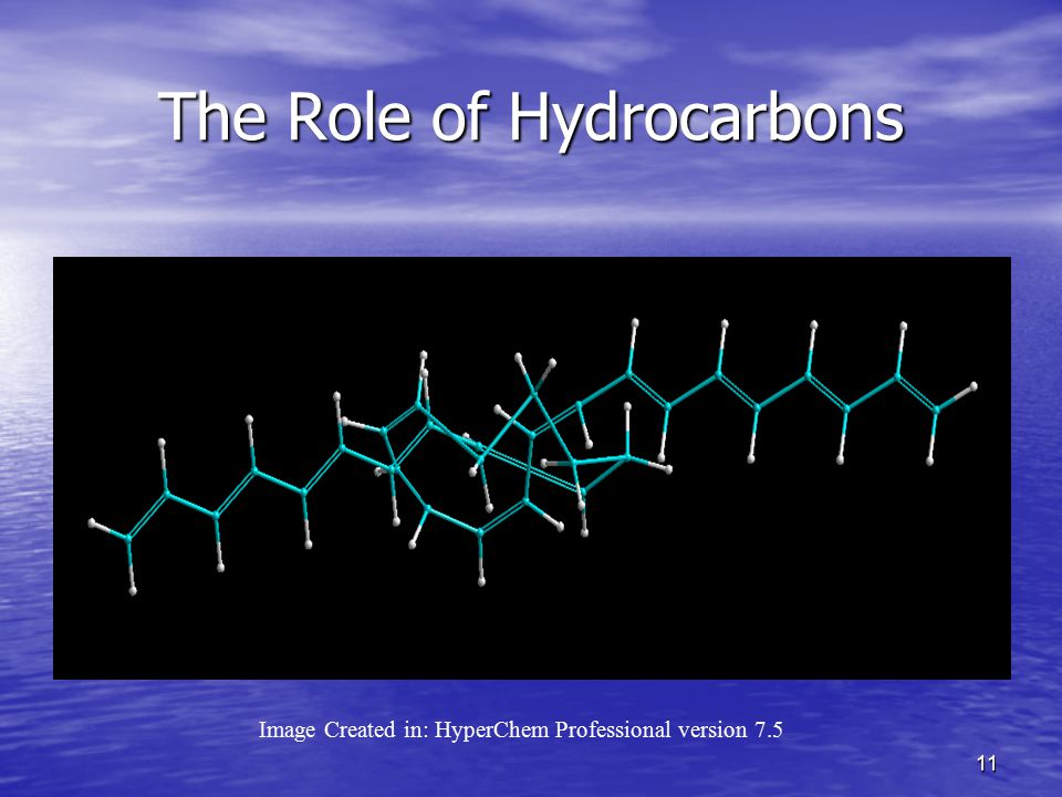 11 The Role of Hydrocarbons Image Created in: HyperChem Professional version 7.5