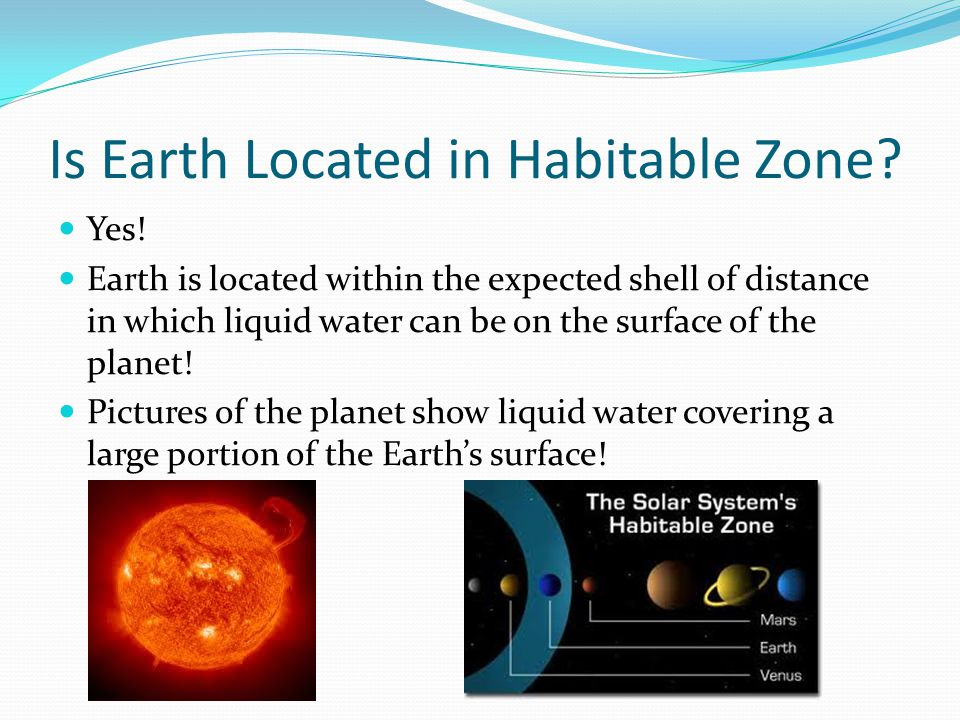 Is Earth Located in Habitable Zone.Yes.