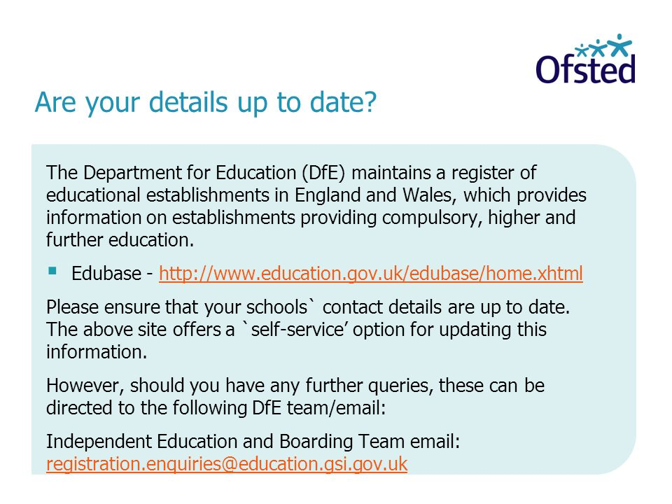 Are your details up to date.