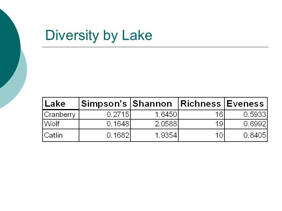 Diversity by Lake