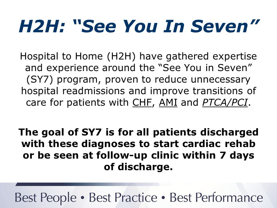 Genesis: See You In Seven Example of SY7 Referral to HVR 1.