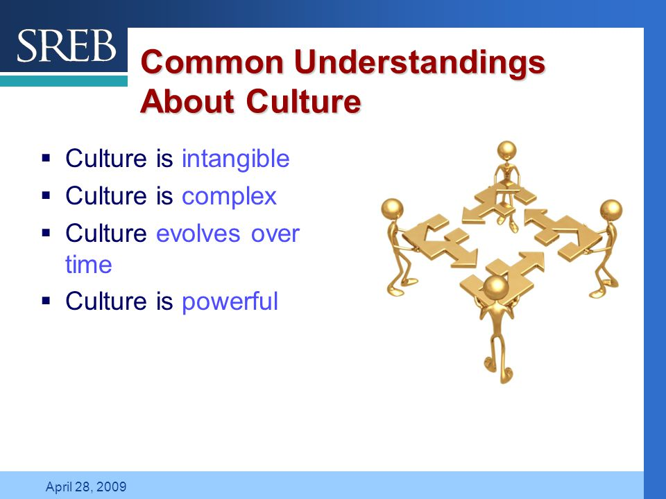 Company LOGO April 28, 2009 Common Understandings About Culture  Culture is intangible  Culture is complex  Culture evolves over time  Culture is