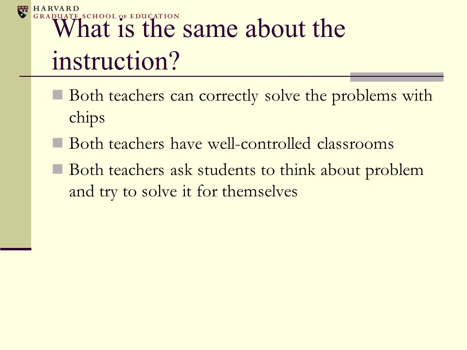 What is different? Mathematical knowledge Instruction