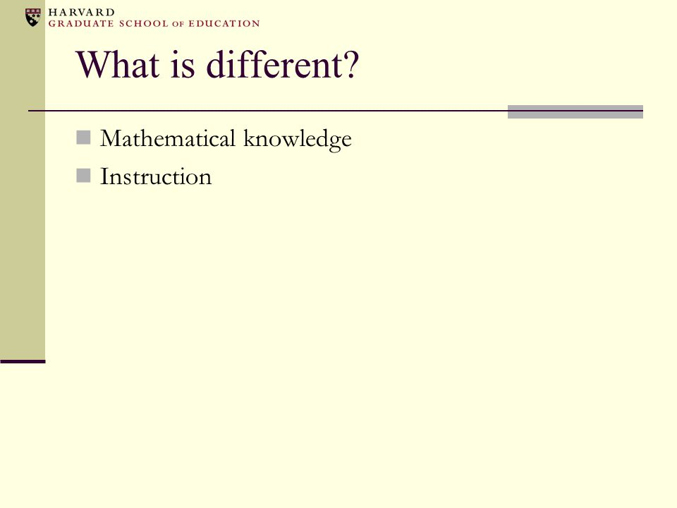 Observing practice… Led to the genesis of mathematical knowledge for teaching Led to mathematical quality of instruction
