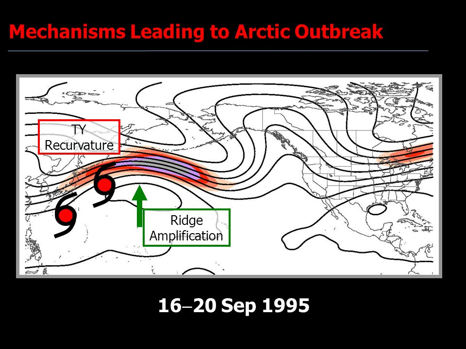 TY Recurvature Ridge Amplification 16  20 Sep 1995 Mechanisms Leading to Arctic Outbreak