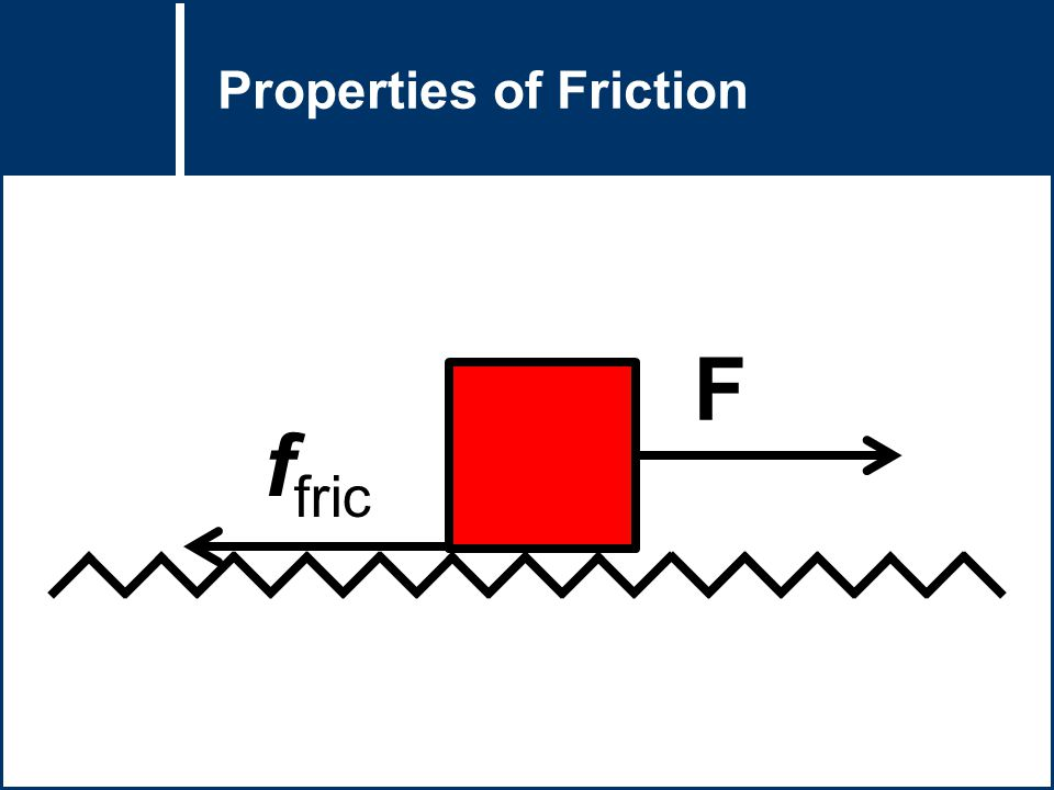 Question Title Properties of Friction F f fric