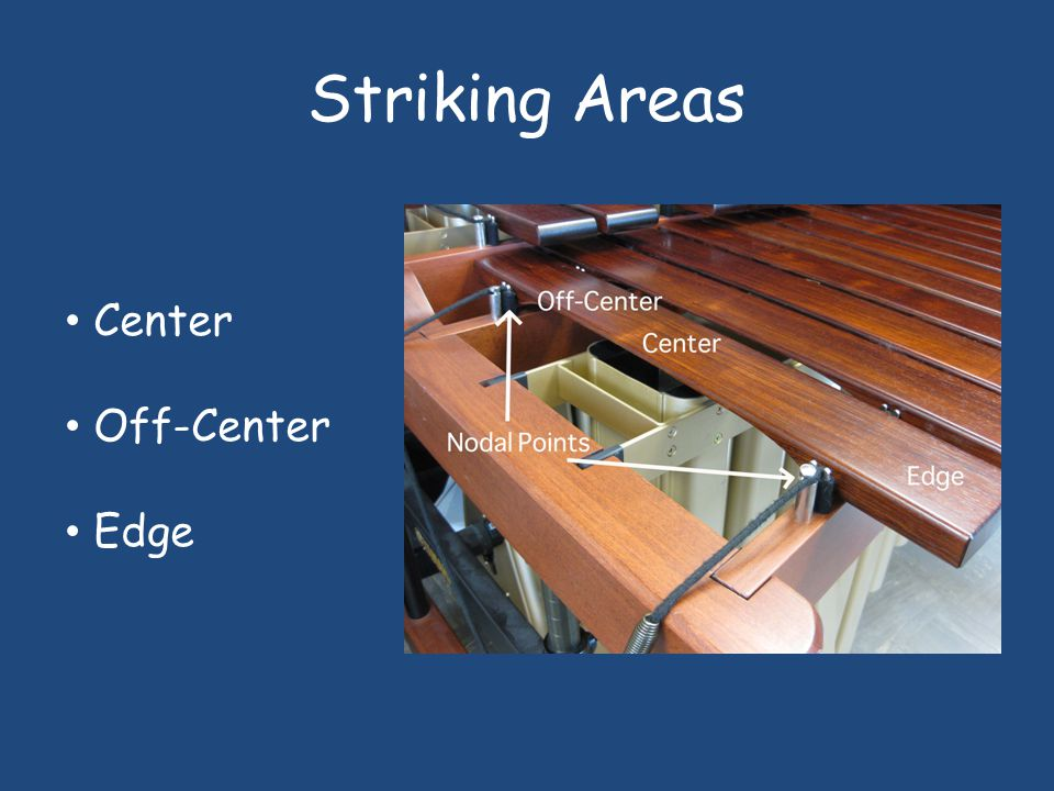 Striking Areas Center Off-Center Edge