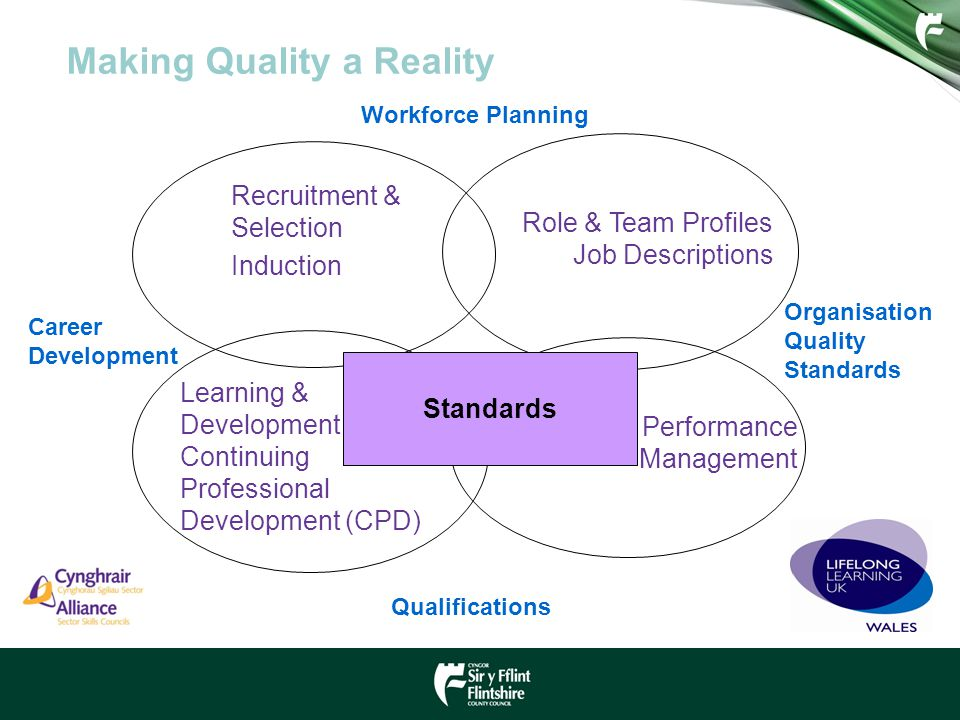 Recruitment & Selection Induction Making Quality a Reality Standards Role & Team Profiles Job Descriptions Learning & Development Continuing Professio